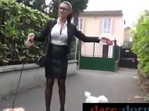 Gorgeous Milf in stockings first porn