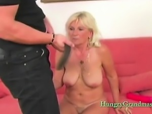 Extreme granny gets munched on
