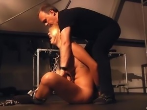 Whips, pleasure and pain for sub slave brutal fucked in bondage punishment