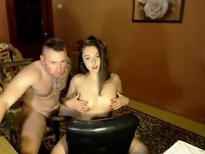 Adorable nude partner together with her sweetheart plays un