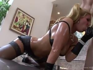 Super hot curvy blondie Phoenix Marie had hard ass fuck after solid deep throat