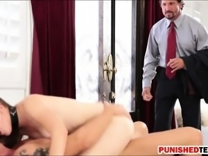 Nickey Huntsman double penetrated by two hard cocks