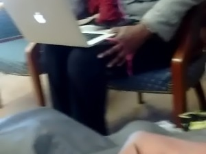Library Dickflash and cum