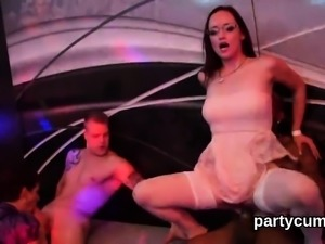 Horny cuties get absolutely wild and naked at hardcore party