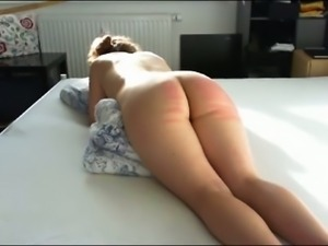 Kinky submissive big bottomed wife of my buddy got her bum spanked