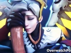Overwatch XXX Mercy Video Compilation
