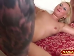Two dicks is not a problen for sex-hungry whore Gina Blonde