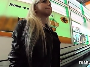 Stunning czech teenie was seduced in the shopping centre and