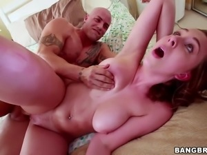 Dirty sex with a busty redhead siren Brooke Wylde