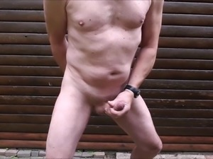 my seventh naked public outdoor exhibitionist cumshot compilation