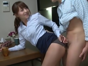 Office adventures with a hardcore Japanese babe
