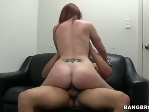 Browhead Cammie Fox fucks passionately to pass the casting