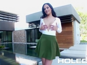 HOLED - Buyer inspects Realtor Gia Paige perfect ass in anal fuck