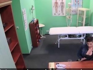 Horny patient sucks doctors dick in fake hospital