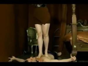 femdom give slave foot slaps