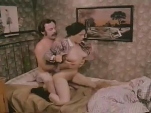 Brunette maid blows and gets her juicy vag pounded