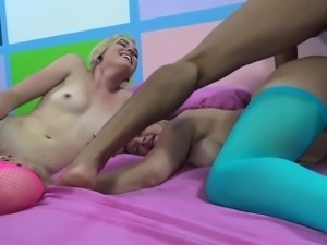 Luscious blonde sluts getting their aching slits fucked deep and hard