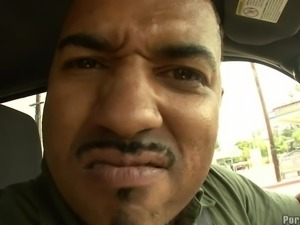 Black guy decides to provide Aleksa with the biggest pecker ever