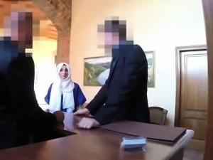 Lovely Arab tenant fucking the landlord huge dick