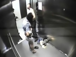 Found fucking at elivator camera