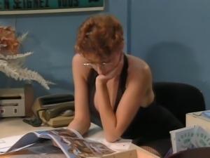 Backdoor To Short Red Hair Secretary