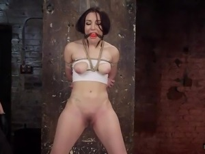 While Gabriella is bonded and obliged to wear a ball gag, her dominant...