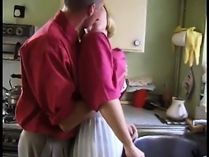 English slut blonde gets fucked within the home