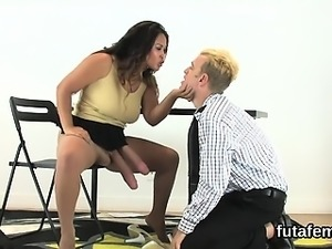 Girls drill fellas anal with massive strap-on dildos and squ