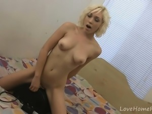 Petite sweetheart and her sex machine adventures