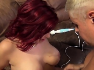 Voluptuous redhead Dayna Vendetta has a raging cock plowing her pussy