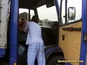 german teen picked up for douple penetration