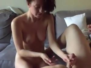Wife fingers husband prostate