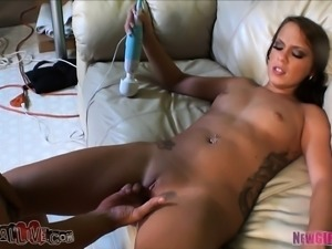 Adorable Haley Sweet can't get enough of a hard pole filling her pussy