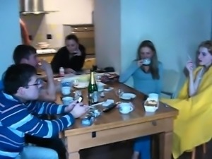 Group pussy-fucking with 2 wet and very naughty bitches