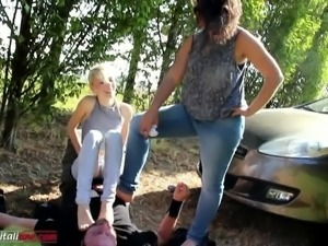 The First Time Of Valeria  Part 4 - Foot Domination 2 Girls