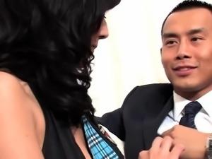Classy latina dped 3some