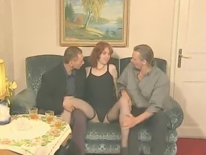 STP1 Madame Watches Her New Recruit Have Her 1st Threesome !