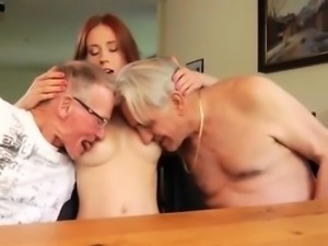 Big natural tits old man and creampie gangbang Minnie Manga
