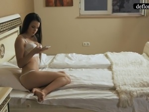 Defloration - Mirella talks about virginity and plays with p