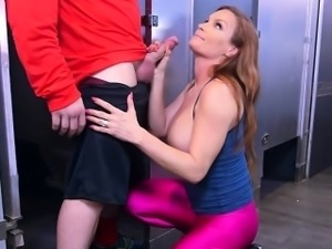 Busty Stepmom Diamond Foxx Blows Her Hung Stepson