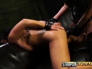 Alexa Pierce and Esmi Lee playing out their exciting bondage fantasy