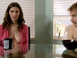 stairing at moms tits