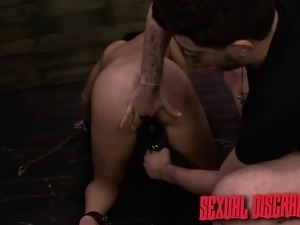 Sexy brunette with a divine ass Mena Li loves to get used and abused