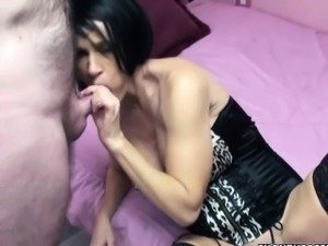 Mature swinger Melissa Swallows in sexy lingerie and