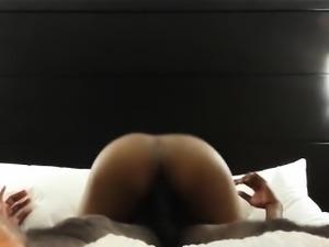 Bitch cumming and riding dick