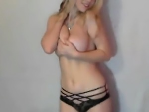 Blonde girl with big boobs for webcam