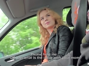 Sizzling Russian Teen With A Fantastic Body Enjoying A Hardcore Fuck In A Car