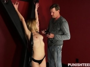 Enticing blonde girl fulfills her desire for hard meat and rough sex