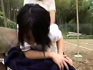 Naughty Japanese teen has an older man fucking her tight sl