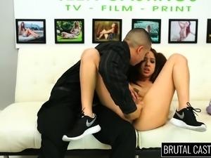 Slim brunette slut Mila Jade gets her fiery pussy pumped full of cock
